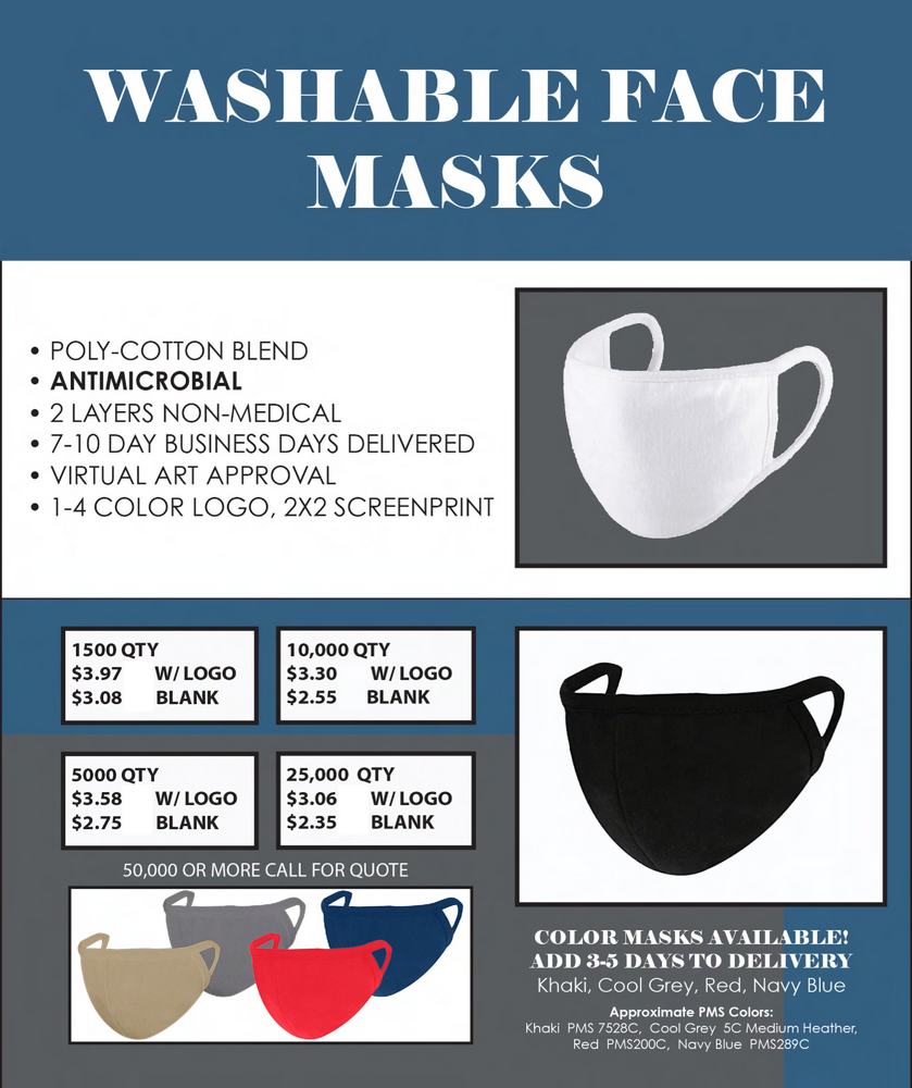 Washable Anti Microbial Face Masks